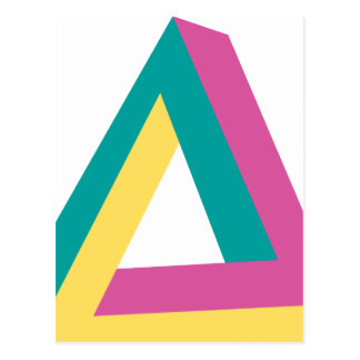 Wellcoda Triangle Drive Shape Summer Fun Postcard