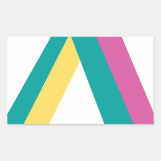 Wellcoda Triangle Drive Shape Summer Fun Rectangular Sticker