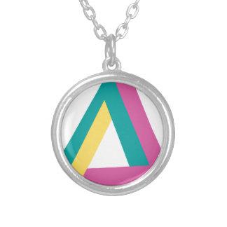 Wellcoda Triangle Drive Shape Summer Fun Round Pendant Necklace
