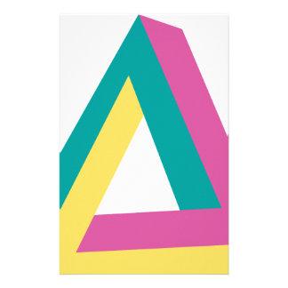 Wellcoda Triangle Drive Shape Summer Fun Stationery