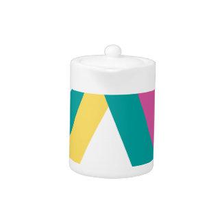 Wellcoda Triangle Drive Shape Summer Fun Teapot