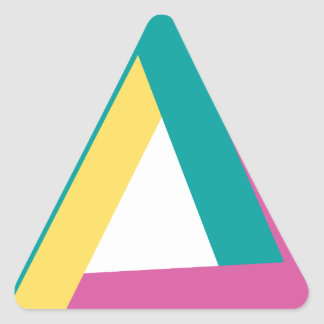 Wellcoda Triangle Drive Shape Summer Fun Triangle Sticker