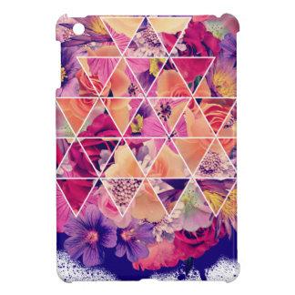 Wellcoda Triangle Shape Flower Paint Rose iPad Mini Covers