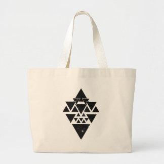 Wellcoda Triangle Star Night Sky Line Love Jumbo Tote Bag