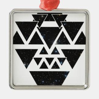 Wellcoda Triangle Star Night Sky Line Love Metal Ornament