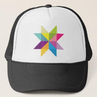 Wellcoda Triangle Star Shape Bright Comet Trucker Hat