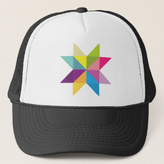 Wellcoda Triangle Star Shape Bright Comet Trucker Hat