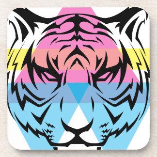 Wellcoda Triangle Tiger Face Wild Animal Coaster