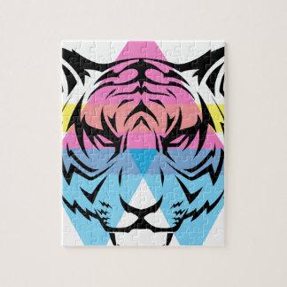 Wellcoda Triangle Tiger Face Wild Animal Jigsaw Puzzle