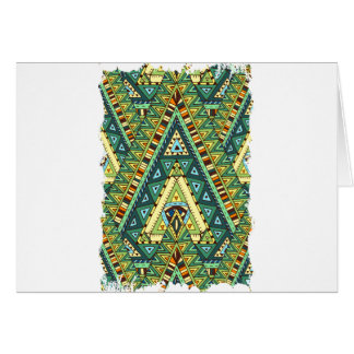 Wellcoda Tribal Style Pattern Crazy Vibe Card