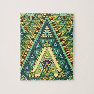 Wellcoda Tribal Style Pattern Crazy Vibe Jigsaw Puzzle