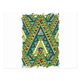 Wellcoda Tribal Style Pattern Crazy Vibe Postcard