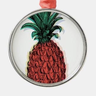 Wellcoda Tropical Pineapple Fruit Juice Metal Ornament