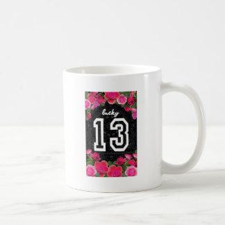 Wellcoda Unlucky Number 13 USA Rose Petal Coffee Mug