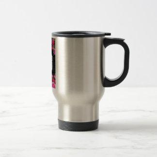 Wellcoda Unlucky Number 13 USA Rose Petal Travel Mug