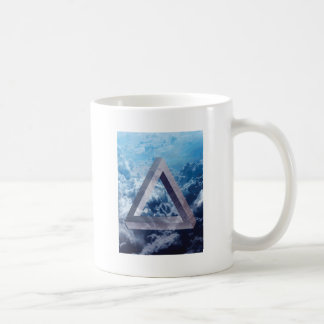 Wellcoda Up In The Clouds Shape Triangle Coffee Mug