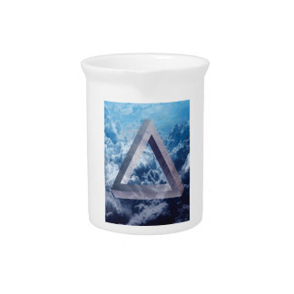Wellcoda Up In The Clouds Shape Triangle Drink Pitcher