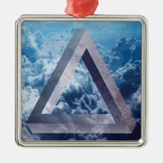 Wellcoda Up In The Clouds Shape Triangle Metal Ornament