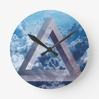 Wellcoda Up In The Clouds Shape Triangle Round Clock