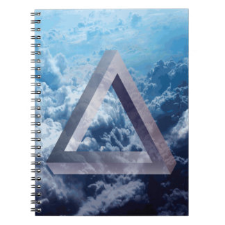 Wellcoda Up In The Clouds Shape Triangle Spiral Notebook