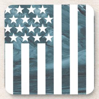 Wellcoda USA Eagle America Freedom Flag Drink Coaster