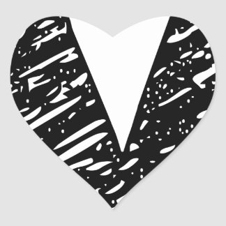 Wellcoda V Epic Brand Print Dream Fun Heart Sticker