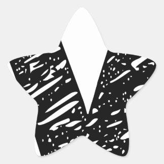 Wellcoda V Epic Brand Print Dream Fun Star Sticker