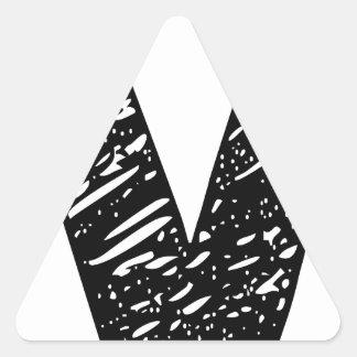 Wellcoda V Epic Brand Print Dream Fun Triangle Sticker