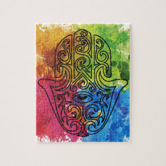 Wellcoda Vibrant Indian Symbol Asian Life Jigsaw Puzzle