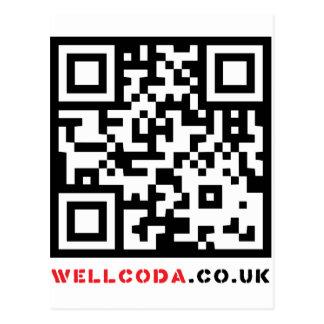 Wellcoda Vintage Apparel Code Neo Barcode Postcard