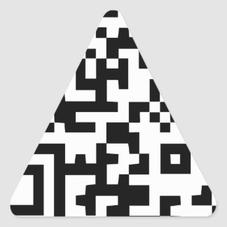 Wellcoda Vintage Apparel Code Neo Barcode Triangle Sticker