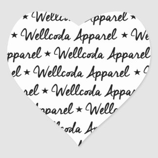 Wellcoda Vintage Apparel Font Dream Land Heart Sticker