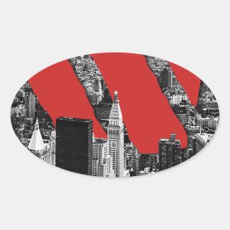 Wellcoda Vintage Apparel NYC New York Fun Oval Sticker