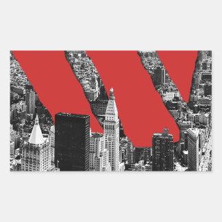 Wellcoda Vintage Apparel NYC New York Fun Rectangular Sticker
