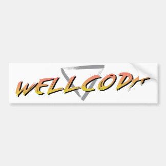 Wellcoda Vintage Apparel Style Triangle Bumper Sticker