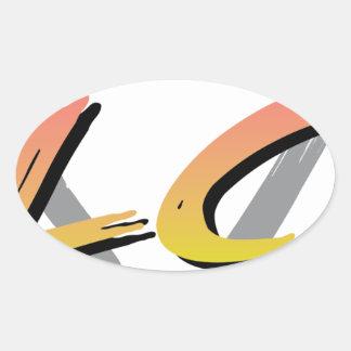 Wellcoda Vintage Apparel Style Triangle Oval Sticker