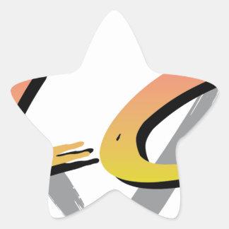 Wellcoda Vintage Apparel Style Triangle Star Sticker