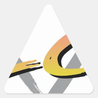Wellcoda Vintage Apparel Style Triangle Triangle Sticker