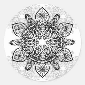 Wellcoda Vintage Asian Pattern Fun Design Classic Round Sticker