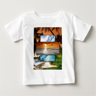 Wellcoda Vintage Beach Life Holiday Love Baby T-Shirt