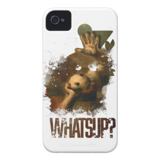 Wellcoda Whats Up Devil Lair Hail Satan iPhone 4 Case-Mate Case