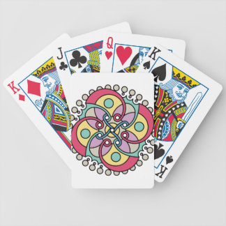 Wellcoda Wicked Flower Style Crazy Look Bicycle Playing Cards
