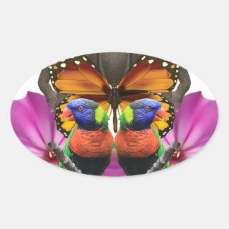 Wellcoda Wild Animal Paradise Pearl Clam Oval Sticker