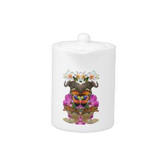 Wellcoda Wild Animal Paradise Pearl Clam Teapot
