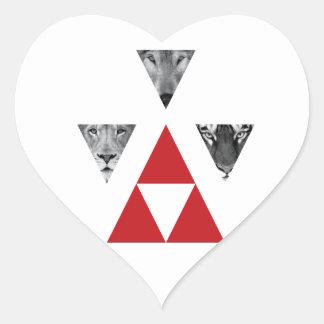 Wellcoda Wild Dangerous Animals Wildlife Heart Sticker