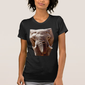 Wellcoda Wild Elephant Head Animal Face T-Shirt