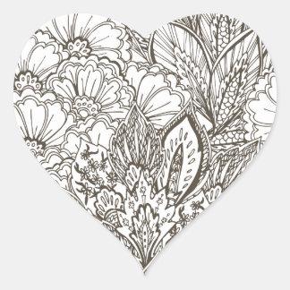 Wellcoda Wild Nature Plants Flower Bloom Heart Sticker