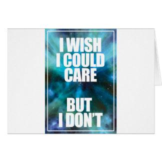 Wellcoda Wish Careless Care Outer Space Card