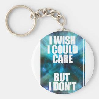 Wellcoda Wish Careless Care Outer Space Keychain