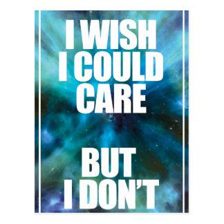 Wellcoda Wish Careless Care Outer Space Postcard